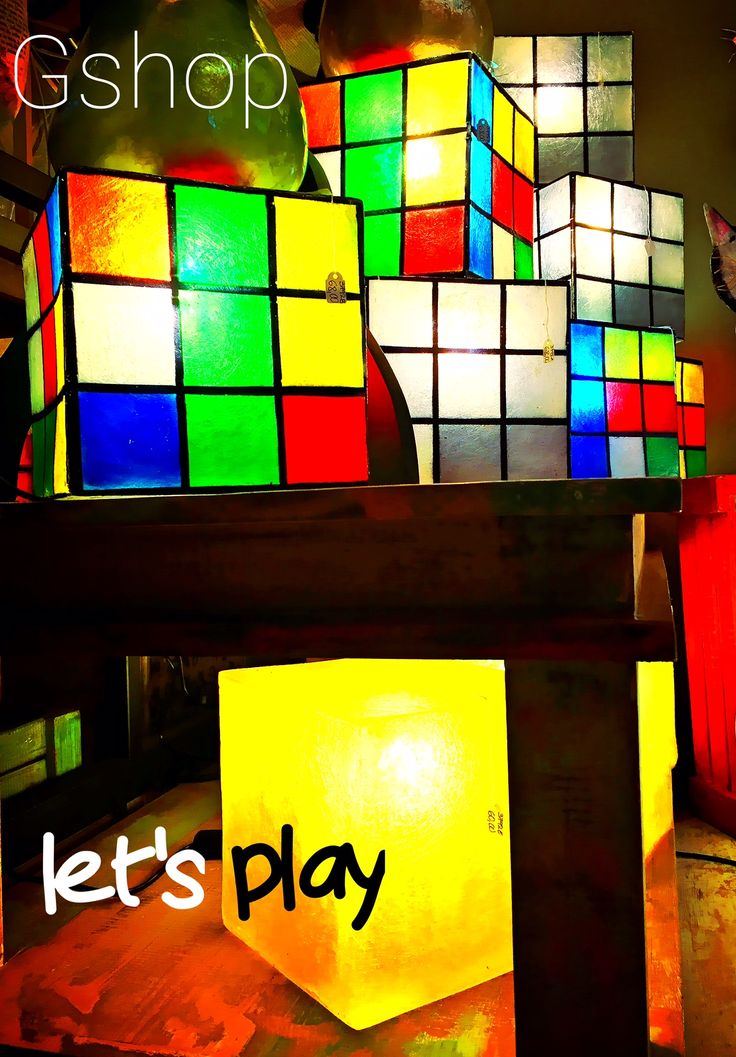 Play with colours. Make it yours. #Gshop_rubik_cubes  Click here: https://www.etsy.com/listing/260884213/rubiks-cube-lamps-2-colors?ref=shop_home_active_11