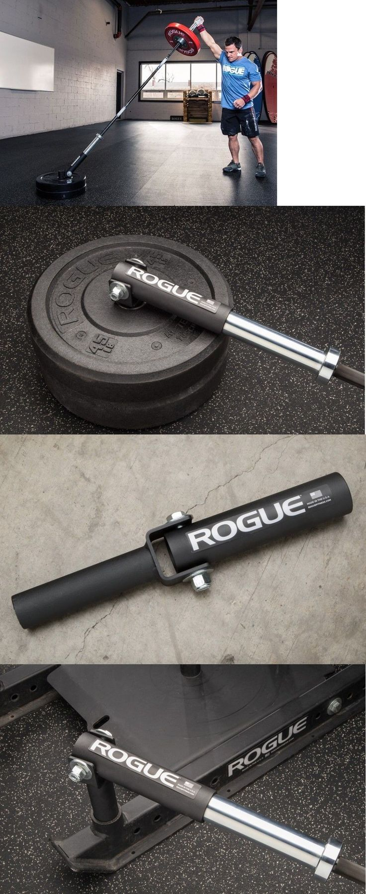 Equipment Parts and Accessories 179001: New Rogue Fitness T-Bar Barbell Bent Over Row Post Landmine Back Trainer Sleeve BUY IT NOW ONLY: $132.84
