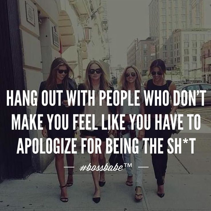 Tag the people who make you feel like you don't have to apologize! Take the FREE 3-day #BossBabe starter course by clicking the link in our profile!!