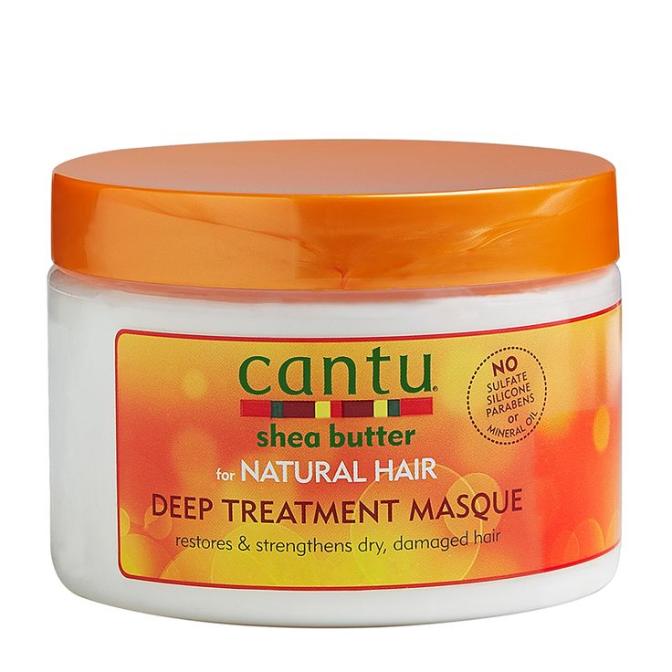 Cantu Shea Butter For Natural Hair Deep Treatment Masque penetrates deep into the hair shaft for an intense treatment to repair and replenish over-processed, damaged hair. Made with pure shea butter...