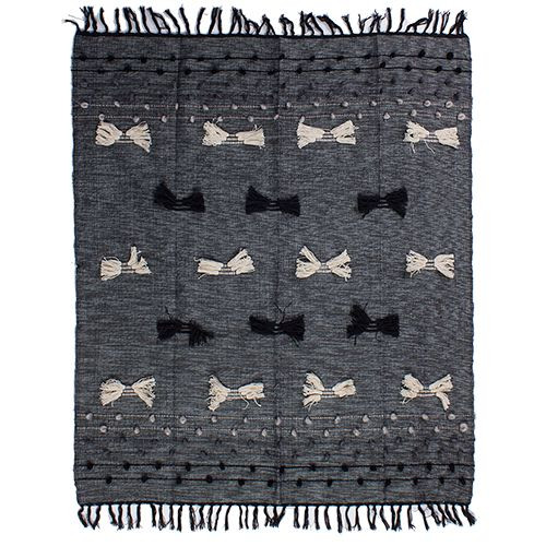 Throw rug Denim Black