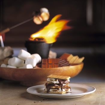 Ideas to DIY smores bar without sternos (incase sterno's chemicals are unhealthy). Various small grills and set ups.
