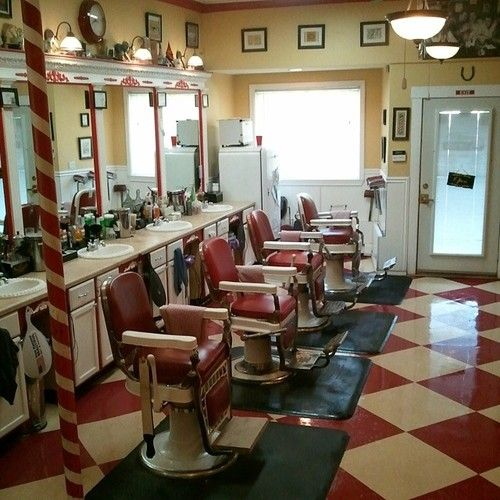 I Go To A Barber Shop That Is Still Set Up Like This