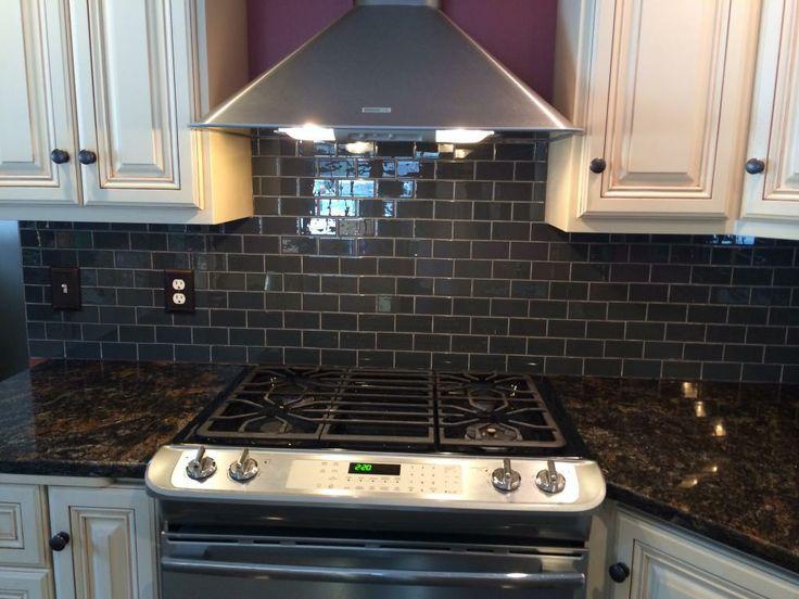Gorgeous Kitchen Backsplash With Glass Tile Installed