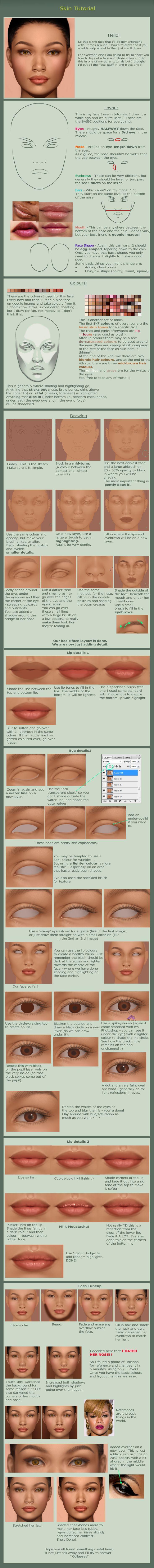 Massive Face Tutorial by ~gothic-icecream on deviantART, Resources for Art Students / Art School Portfolio Work at CAPI ::: Create Art Portfolio Ideas at milliande.com , How to Draw Faces
