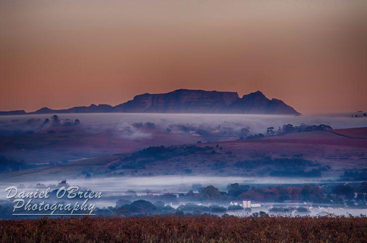 Table Mountain seen from Stellenbosch