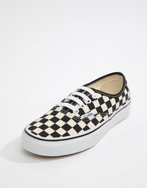 Vans Authentic black and white checkerboard sneakers in 2019  1c85fa10a