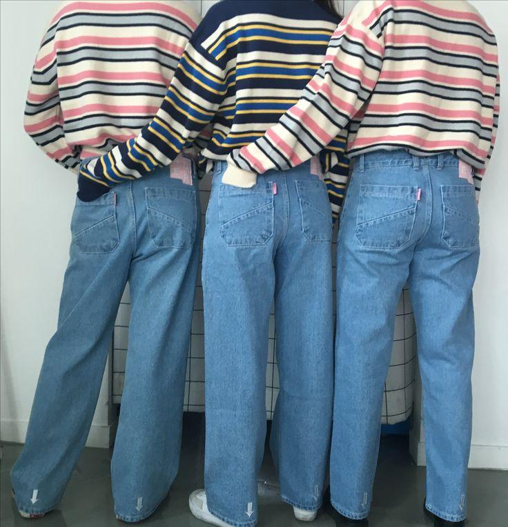 Three better than two Stripe knitwear styling  www.adererror.com  #ader #brand #fashion #styling #knitwear #pink
