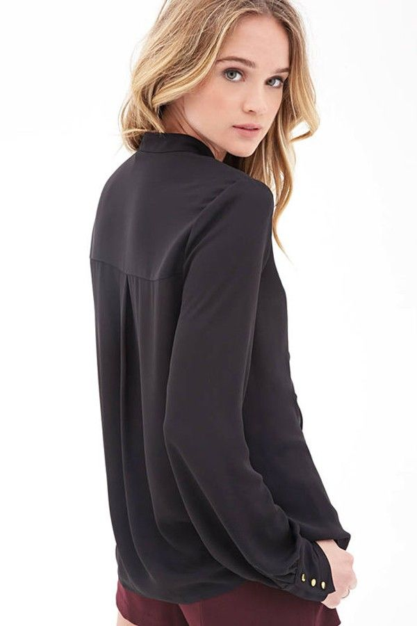 Black Mock Neck Ruffle Long Sleeve Blouse @ Womens Shirts & Blouses,Women Shirts,Cheap Button Down Shirts,Long Sleeve Shirts,Blouses,Peasant Blouse,Cheap Blouse,Sheer Shirts,Womens Denim Shirts,Fashion Blouse,Sexy Shirt,Collar Shirt,V Neck Blouse,Polo Shirt,Floral Print Shirt,White Blouse