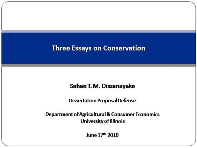 Phd Thesis Dissertation Defense - The best estimate connoisseur