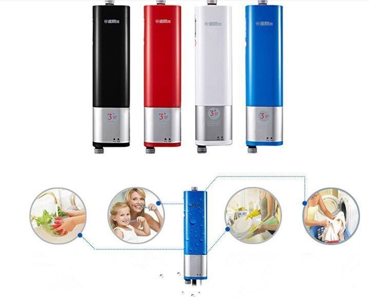 Cool Tankless Electric Water Heater Save Energy Instant Hot Water W V Red Blue