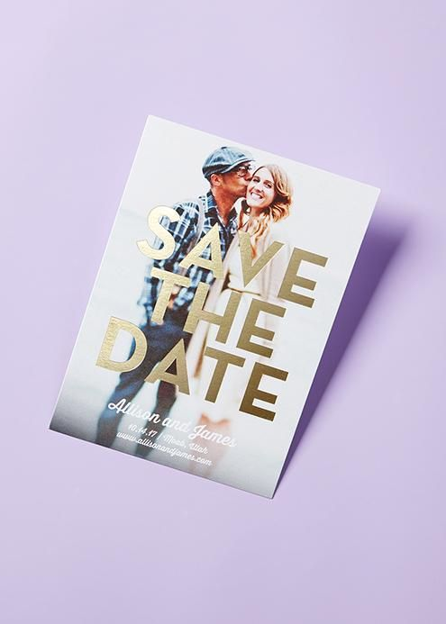 From save the dates to wedding invitations, discover your favorite foil-stamped designs that are ready to shine.