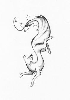 Beautiful fox tattoo design