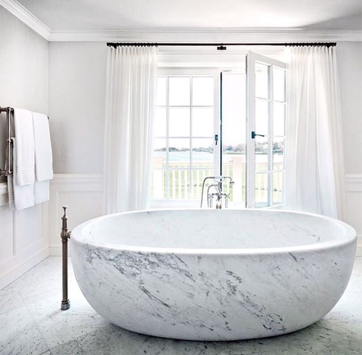 that bathtub marble modern chic simple - Bathtub