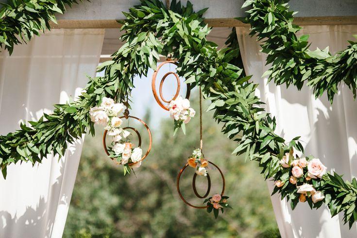 Rancho Valencia Wedding. Hanging flower details. Josh Elliott Photography.