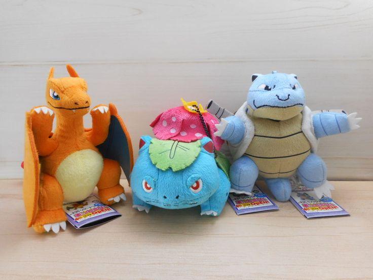 Pokemon Venusaur Charizard Blastoise Plush Banpresto Doll My Collection Keychain #Banpresto