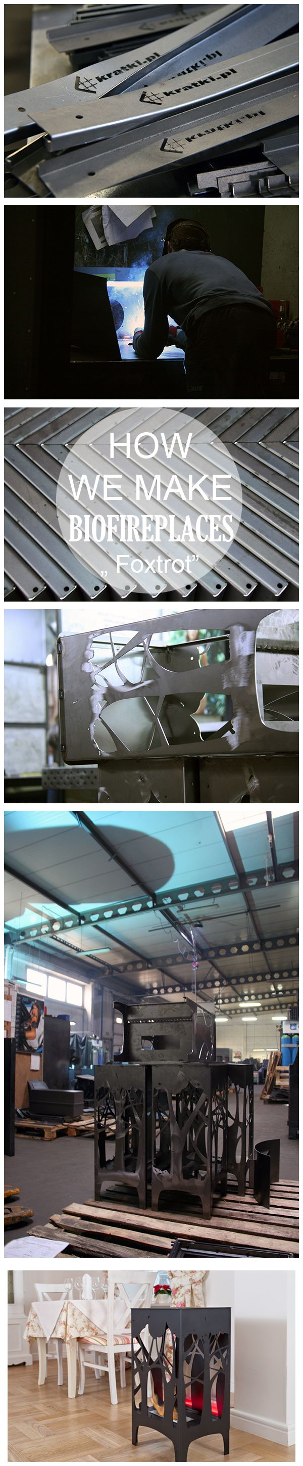 How we produce our bio fireplace? Take a look at production steps. Today we show FOXTROT.