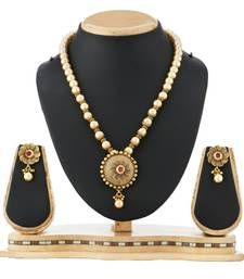 Buy Artificial Pearl Jewellery Party Wear Necklace Set necklace-set online