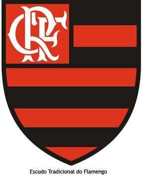 Meu Flamengo querido! Escudo tradicional do Flamengo, um dos clubes mais famosos do Brasil, nascido no Rio de Janeiro