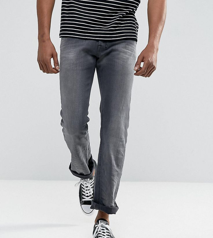 DIESEL ZATINY BOOTCUT FIT JEAN 084JK WASHED GRAY - GRAY. #diesel #cloth #