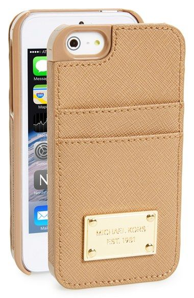 want one for new phone! hope they make this for the 6 MICHAEL Michael Kors Card Holder iPhone 5