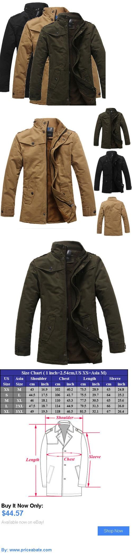 Men Coats And Jackets: Mens New Winter Casual Jacket Thick Coat Warm Collar Outerwear Overcoat Parka BUY IT NOW ONLY: $44.57 #priceabateMenCoatsAndJackets OR #priceabate