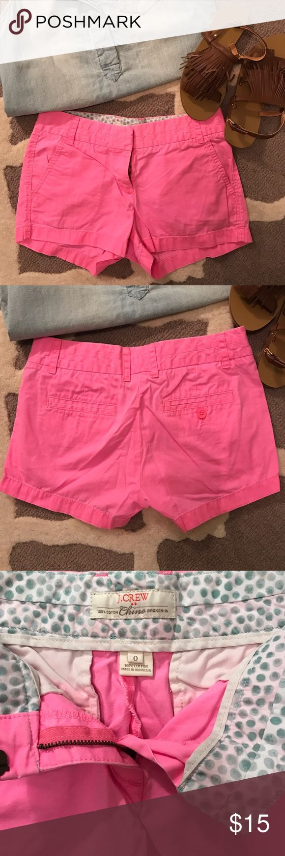 Selling this Neon Pink J.Crew Shorts on Poshmark! My username is: pinkandtulips. #shopmycloset #poshmark #fashion #shopping #style #forsale #J. Crew Factory #Pants