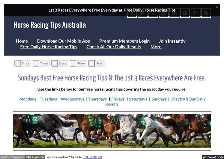 Sundays July 2nd Free Horse Racing Tips