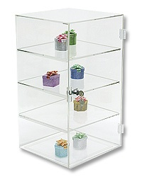 Acrylic Display Case w/3 Shelves 18H
