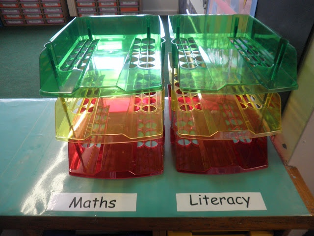 AFL - Following the traffic light system children decide where to put their books for a quick look on how difficult children found the lesson. Fab idea!