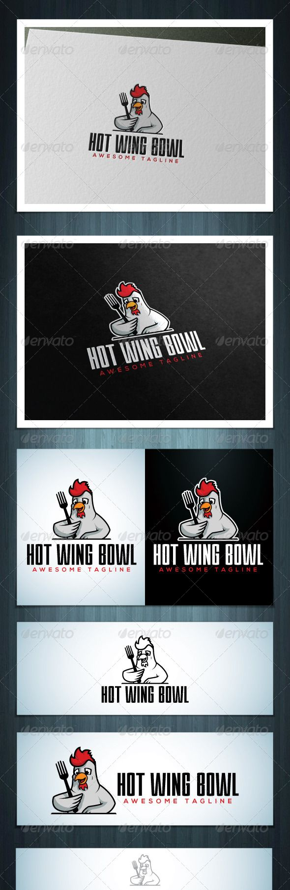 Hot Wing Bowl by Scredeck Hot Wing Bowl is a multipurpose logo, can be used in any companies related to chicken, food, fast food etc. Ai & EPS 10 / CMYK /