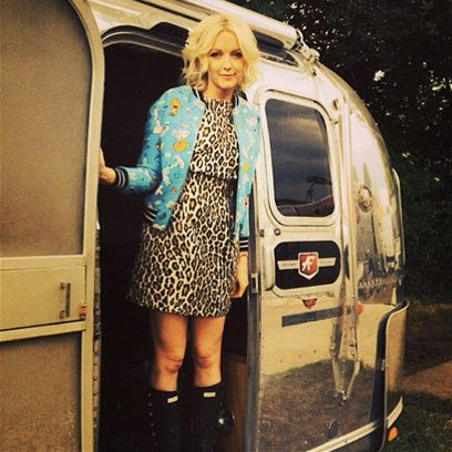Lauren Laverne at Glastonbury 2014, plus find more summer style inspiration at Redonline.co.uk