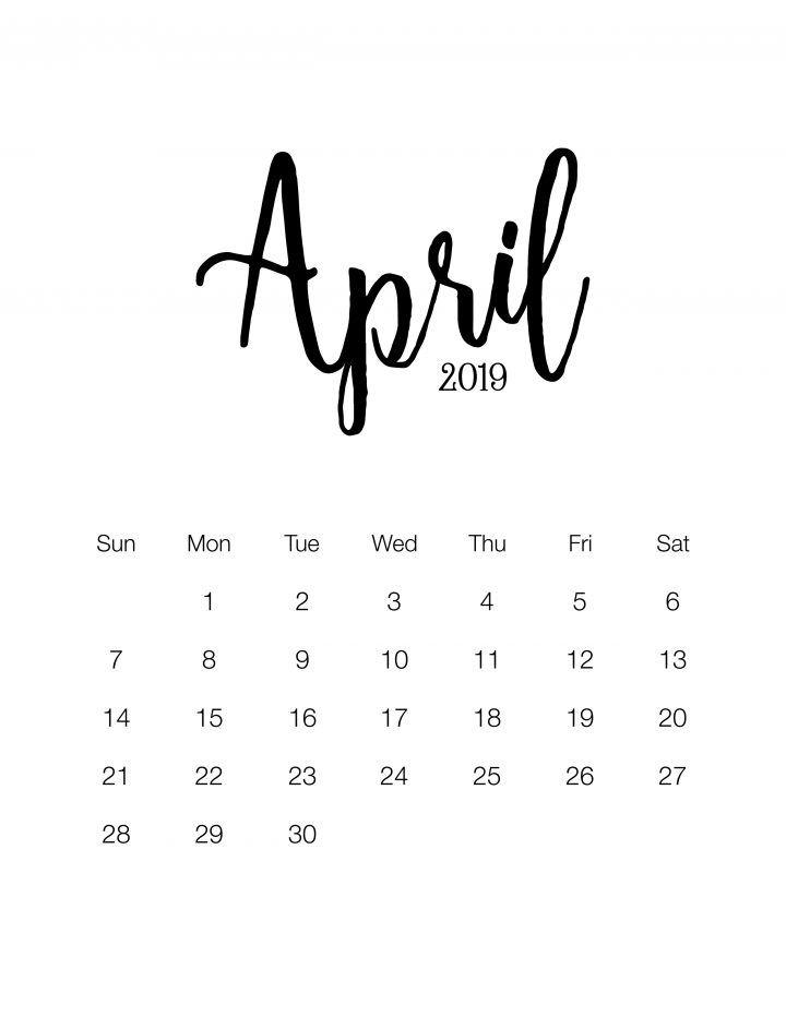 Fabulous And Free Printable 2019 Minimalistic Calendar Pintheresse