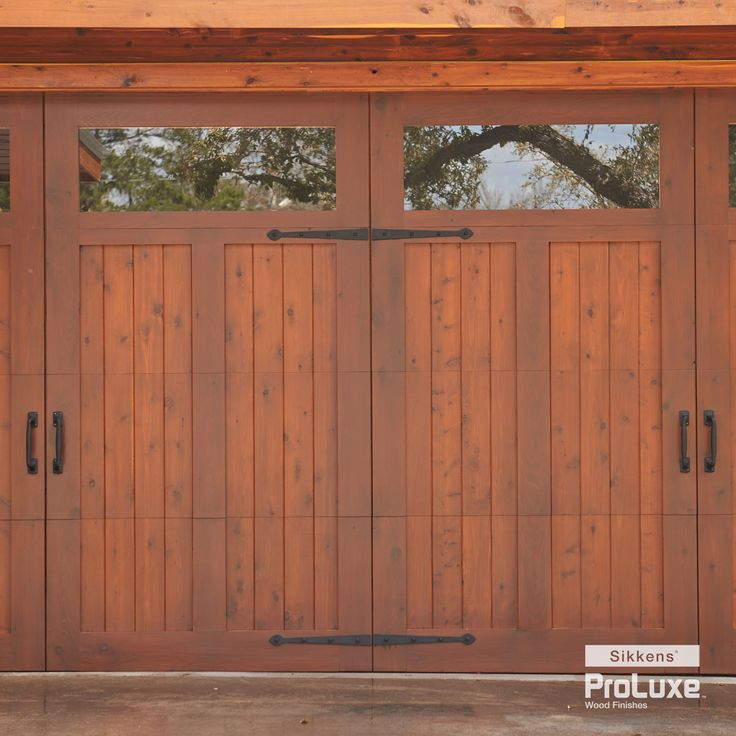 Country Glamour Garage Door And Siding Featuring Sikkens