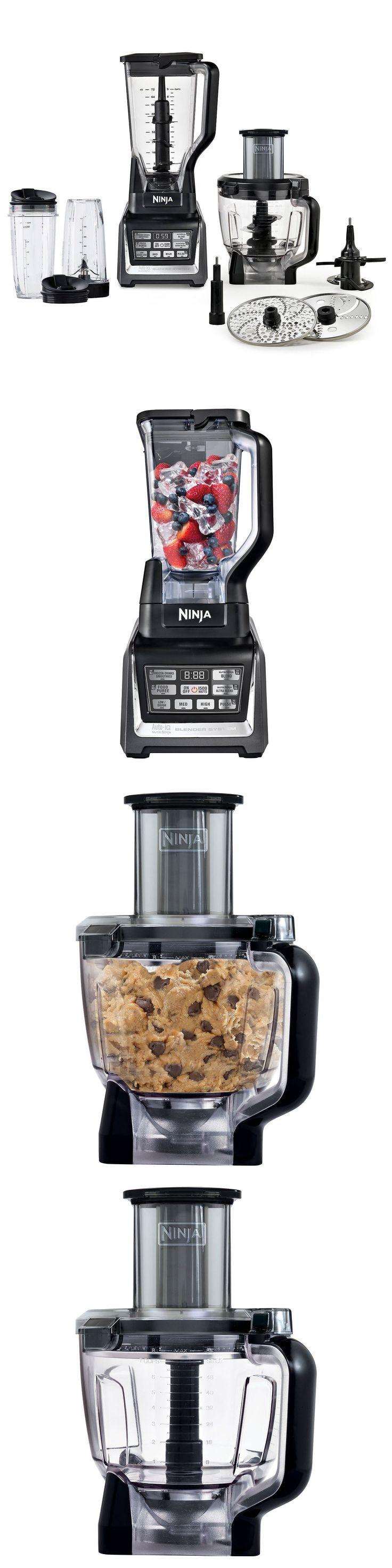 Ninja mega kitchen system 1500w 2hp food processor blender bl773co - Small Kitchen Appliances Nutri Ninja 1500w Auto Iq Bl681a Blender Food Processor Juicer 2