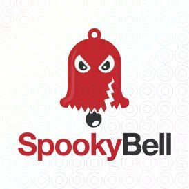 Exclusive Customizable Logo For Sale: Spooky Bell   StockLogos.com https://stocklogos.com/logo/spooky-bell