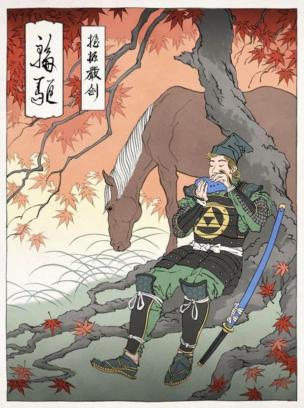 Japanese-Ukiyo-e-video-games-illustrations-4.jpg (610×817)