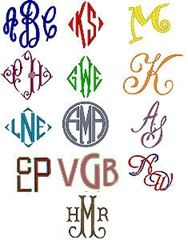Embroidered Monograms - Flying Needle Machine Embroidery, tutorial about  monograms usage
