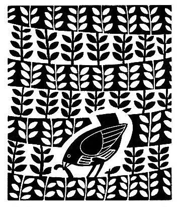 Printmaking, rhythm, emphasis, contrast, Linda Farquharson. Nice in black and white.