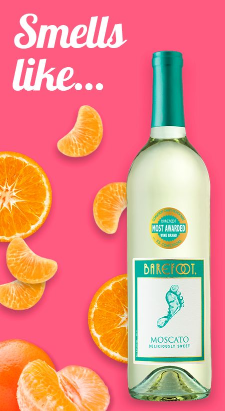 Get to know Barefoot Moscato with our wine guide for your senses. Our moscato white wine smells like delicious hints of citrus.