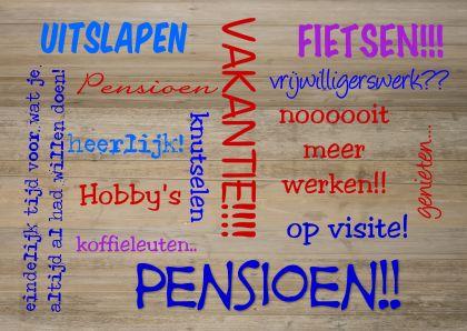 woorden rond pensioen