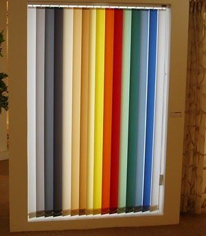 Sheer Vertical Blinds Covering your vinyl vertical blinds with fabric can add instant warmth to the room, replacing the stark, white look...