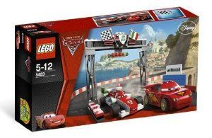 LEGO Disney Cars Exclusive Limited Edition Set #8423 World Grand Prix Racing Rivalry by LEGO. $43.49. Includes Lightning McQueen and Francesco. Features sign and Italian style finish line. Race your rivals in the famous World Grand Prix!. bRace your rivals in the famous World Grand Prix!/bIts the World Grand Prix in Porta Corsa, Italy. Lightning McQueen is revving up against his great Italian rival Francesco. Help him speed to the finish and become the world champion!    * Includ...