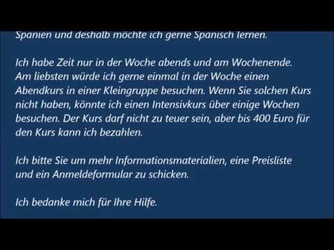 Brief Schreiben Deutsch B1 Prüfung Beispiel Nora Kdesign