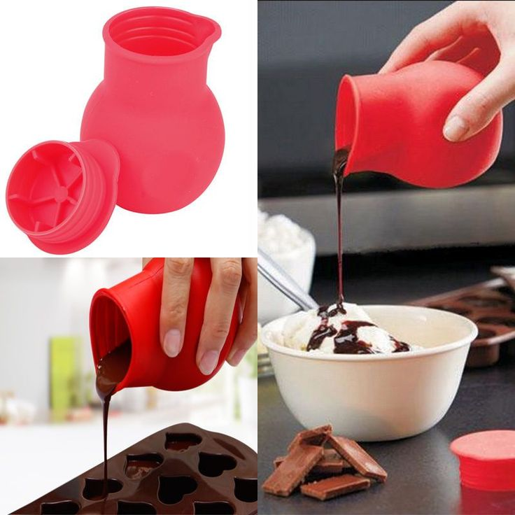 Fine Practical Silicone Chocolate Melting Pot Mould Butter Sauce Baking Pouring | eBay