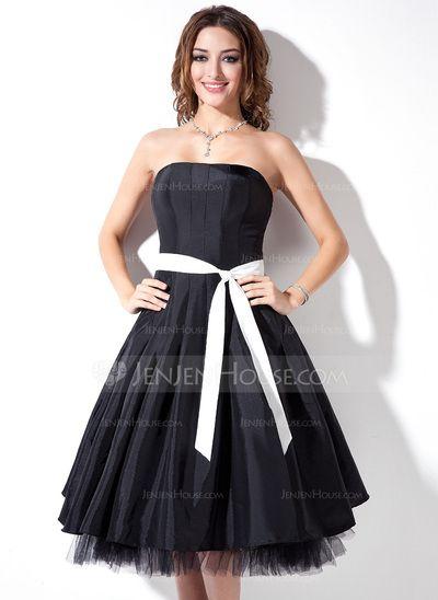 Robes+de+demoiselle+d'honneur+-+$96.99+-+Forme+Princesse+Sans+bretelle+Mi-longues+Taffetas+Tulle+Robe+de+demoiselle+d'honneur+avec+Ceintures+(007001736)+http://jenjenhouse.com/fr/Forme-Princesse-Sans-Bretelle-Mi-Longues-Taffetas-Tulle-Robe-De-Demoiselle-D-Honneur-Avec-Ceintures-007001736-g1736