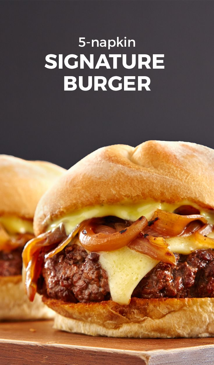 This burger is near perfect. It's called the 5 Napkin Signature Burger, and it…