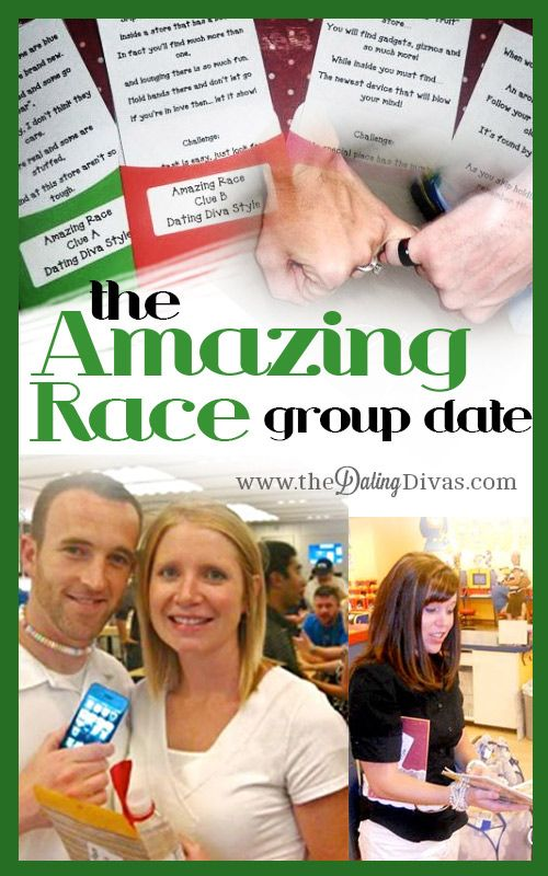 Create your own Amazing Race around town or simply at your local mall!  Great for large groups! Downloads included. www.TheDatingDivas.com #datenight #dateidea #thedatingdivas