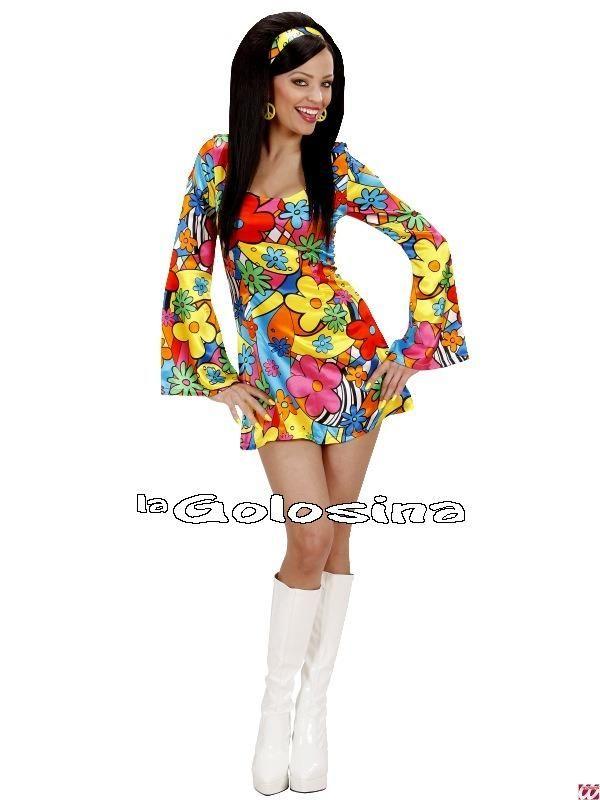Complementos del disfraz, Todo para ... - 15 - TODO para disfraz de Hippie (años 50 al 80) -Disfraz Ad. Flower Power - Hippie.