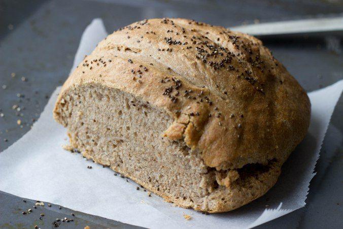 Speltbrood met chiazaad
